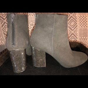 Kenneth Cole Reaction Rhinestone Ankle Booties